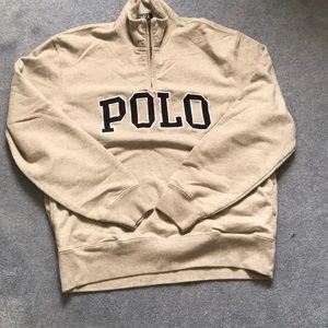Grey Polo Zip up Sweatshirt